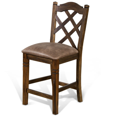Sunny Designs Savannah Double Crossback Stool 1848AC - BarStoreUSA