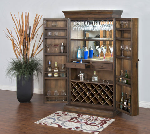 Sunny Designs Savannah Bar Armoire 1913AC - BarStoreUSA