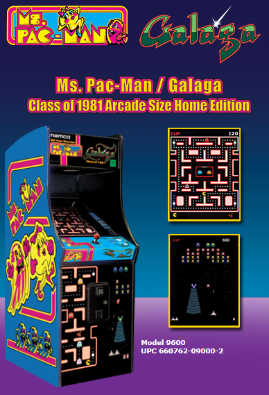 Chicago Gaming Ms PacMan/Galaga (Class of 1981 Edition) Arcade Size Home Edition 9600 - BarStoreUSA