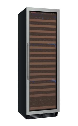 "Allavino 24"" Wide FlexCount Classic II Tru-Vino 174 Bottle Single Zone Stainless Steel Right Hinge Wine Refrigerator Model: YHWR174-1SR20"