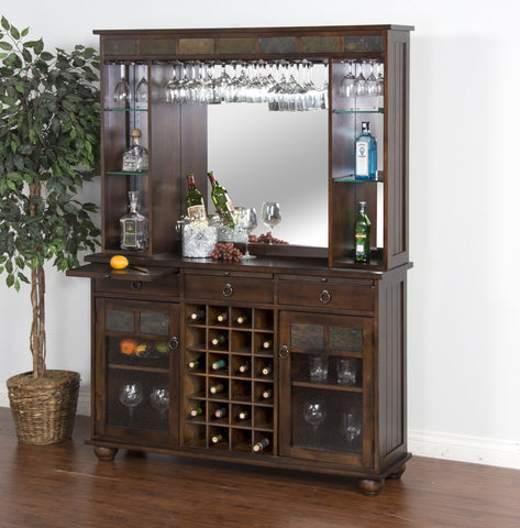 Sunny Designs Santa Fe Server and Back Bar 2413DC - BarStoreUSA