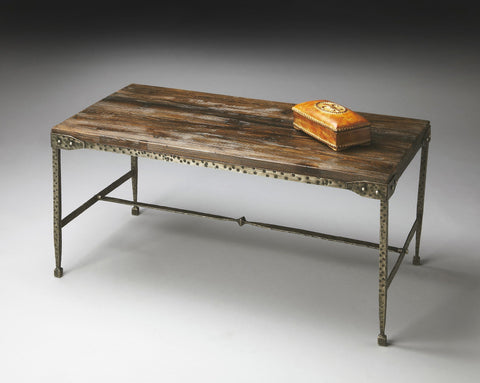 Butler Furniture Industrial Chic Wood/Iron Cocktail Table 2884120 - BarStoreUSA