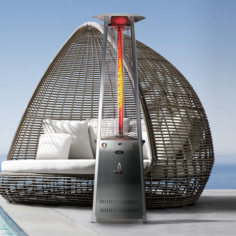 Lava Heat Italia Patio Heater 2G Stainless Steel - Propane AL8RPS