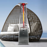 Lava Heat Italia Patio Heater 2G Stainless Steel - Natural Gas AL8RGS - BarStoreUSA