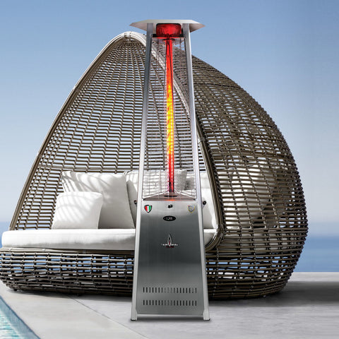 Lava Heat Italia Patio Heater 2G Stainless Steel - Natural Gas AL8RGS