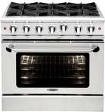 Capital Culinarian 36″ Gas Manual Clean Range MCOR366 - BarStoreUSA