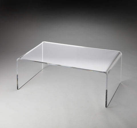 Butler Furniture Crystal Clear Acrylic Cocktail Table 3398140 - BarStoreUSA