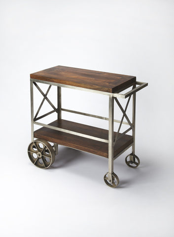 Butler Furniture Industrial Chic Trolley Server Bar Cart 3541330 - BarStoreUSA