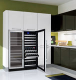 "Allavino 47"" Wide FlexCount II Tru-Vino 249 Bottle Three Zone Stainless Steel Side-by-Side Wine Refrigerator Model: 3Z-VSWR2128-S20"