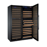 "Allavino47"" Wide FlexCount II Tru-Vino 349 Bottle Three Zone Black Side-by-Side Wine Refrigerator Model:3Z-VSWR7772-B20"
