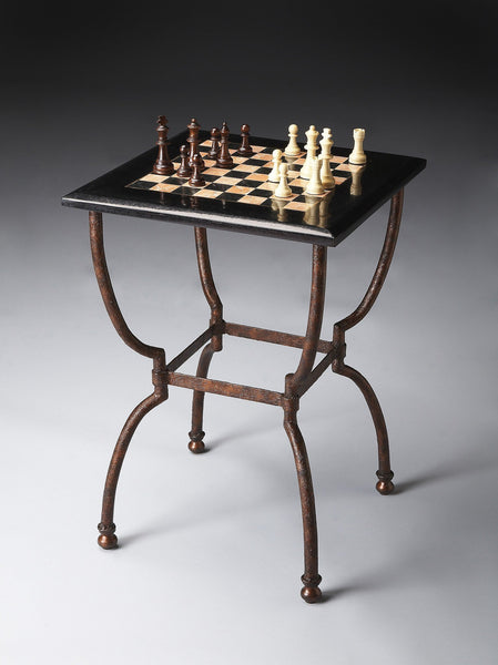 Butler Furniture Fossil Stone Chess Game Table 6061025 - BarStoreUSA