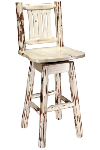 Montana Woodworks Montana Collection Barstool w/ Back & Swivel - BarStoreUSA
