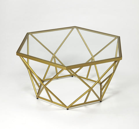 Butler Furniture Alondra Gold Powder Coated Cocktail Table 9321364 - BarStoreUSA