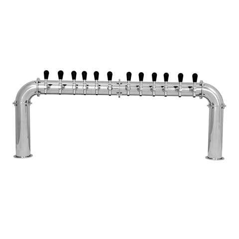 Beer Tower 12 Tap Stainless Pass-Thru ARCADIA 12, Glycol - BarStoreUSA