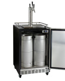 "Kegco 24"" Wide Triple Tap Stainless Steel Commercial Built-In Left Hinge Kegerator with Kit Model: HK38BSC-L-3"