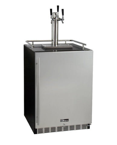 Kegco 3-Faucet Undercounter Kegerator with Premium Direct Draw Kit HK38BSU-3 - BarStoreUSA