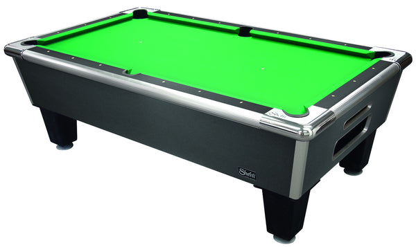 "Shelti Bayside 101"" Charcoal Matrix Pool Table 8HP-101-CA - BarStoreUSA"