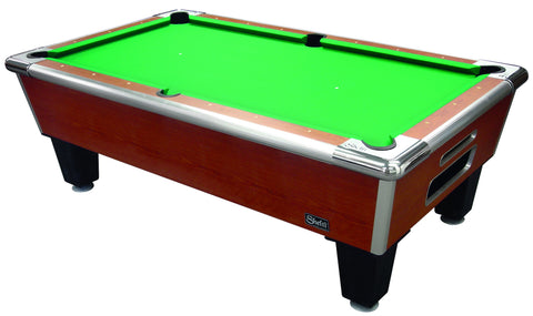 "Shelti Bayside 101"" Sovereign Cherry Pool Table 8HP-101-AA - BarStoreUSA"
