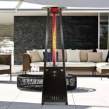 Lava Heat Italia Patio Heater 2G Hammered Black - Natural Gas AL8RGBL - BarStoreUSA