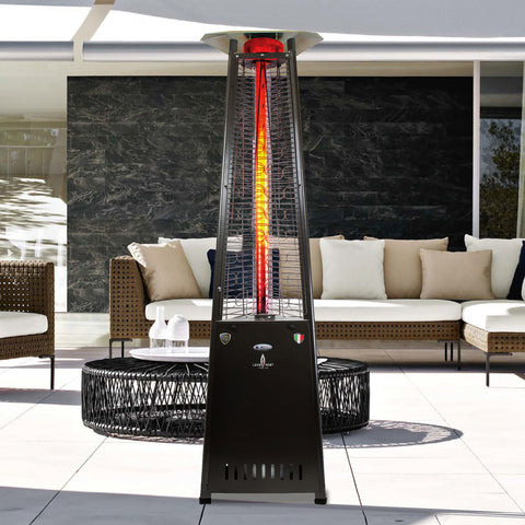 Lava Heat Italia Patio Heater 2G Hammered Black - Natural Gas AL8RGBL