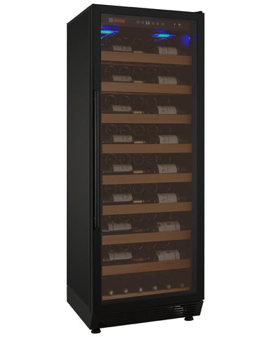 "Allavino 24"" Wide Vite II 99 Bottle Single Zone Black Right Hinge Wine Refrigerator Model: YHWR115-1BR20"