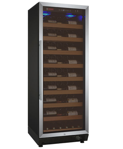 "Allavino 24"" Wide Vite II Tru-Vino 99 Bottle Single Zone Stainless Steel Right Hinge Wine Refrigerator Model: YHWR115-1SR20"