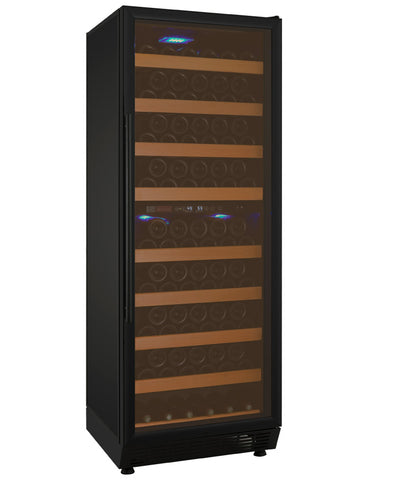 "Allavino 24"" Wide Vite II Tru-Vino 99 Bottle Dual Zone Black Right Hinge Wine Refrigerator Model: YHWR99-2BR20"