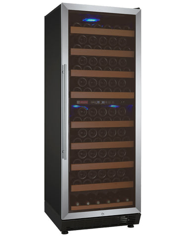 "Allavino 24"" Wide Vite II Tru-Vino 99 Bottle Dual Zone Stainless Steel Right Hinge Wine Refrigerator Model: YHWR99-2SR20"