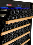 "Allavino 32"" Wide Vite Series 305 Bottle Single Zone Stainless Steel Left Hinge Wine Refrigerator YHWR305-1SLT - BarStoreUSA"