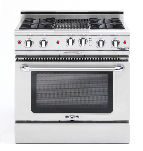 Capital Culinarian 36″ Gas Self Clean Range CGSR362B2 - BarStoreUSA