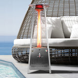 Lava Heat Italia Patio Heater Capri Stainless Steel - Natural Gas AL6MGS - BarStoreUSA