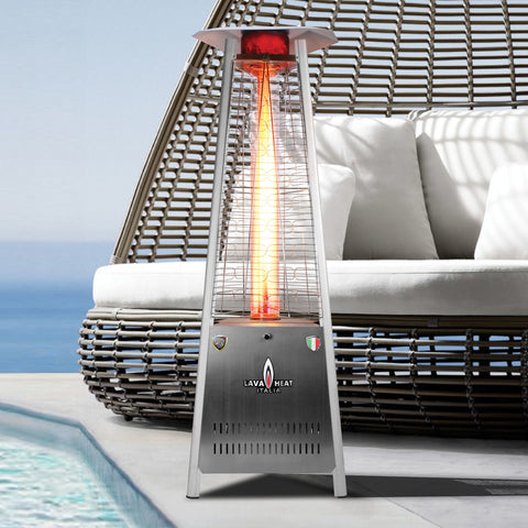 Lava Heat Italia Patio Heater Capri Stainless Steel - Natural Gas AL6MGS