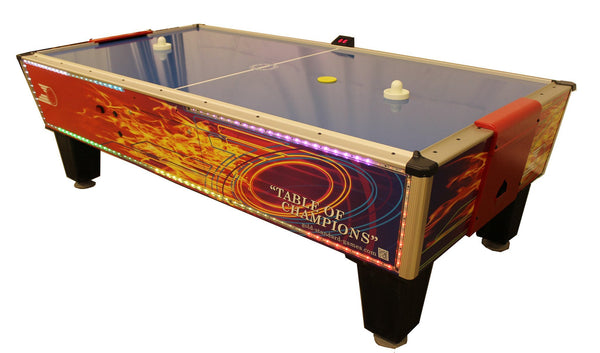 Gold Standard Games Gold Flare Home Air Hockey Table 8HGF-WO2-TRS-L - BarStoreUSA