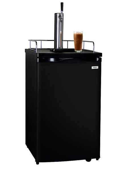 Kegco Nitro Cold-Brew Coffee Dispenser with Black Cabinet and Door ICK19B-1 - BarStoreUSA