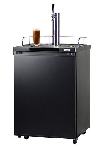 Kegco Nitro Cold-Brew Coffee Dispenser with Black Cabinet and Door ICK20B-1 - BarStoreUSA
