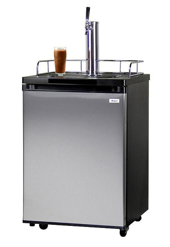 Kegco Nitro Cold-Brew Coffee Dispenser with Black Cabinet and Stainless Steel Door ICK20S-1 - BarStoreUSA
