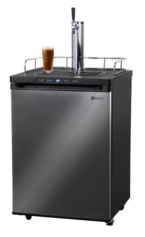 Kegco Digital Nitro Cold-Brew Coffee Dispenser - Black Cabinet with Black Stainless Steel Door ICK30X-1 - BarStoreUSA