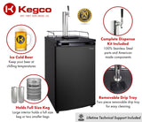 "Kegco 20"" Wide Single Tap Black Kegerator Model: K199B-1NK"