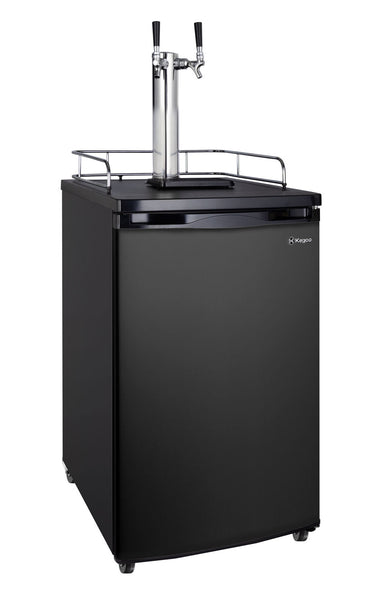 "Kegco 20"" Wide Cold Brew Coffee Dual Tap Black Kegerator Model: ICK19B-2NK"