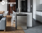 "Kegco 20"" Wide Single Tap Stainless Steel Kegerator Model: K199SS-1NK"