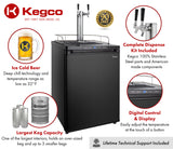 "Kegco 24"" Wide Dual Tap Black Digital Kegerator Model: K309B-2NK"