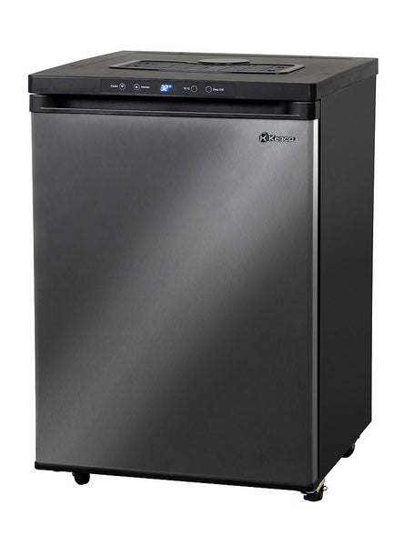 "Kegco 24"" Wide Black Stainless Steel Digital Kegerator - Cabinet Only Model: MDK-309X-01"