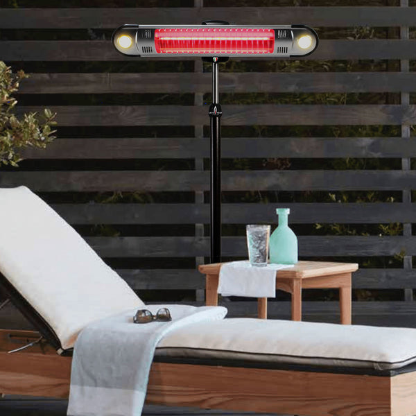 Lava Heat Italia Patio Heater Wall E Heritage Bronze - Electric EL6REB - BarStoreUSA