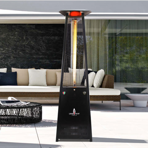 Lava Heat Italia Patio Heater Lava Lite Hammered Black - Propane AL8MPBL