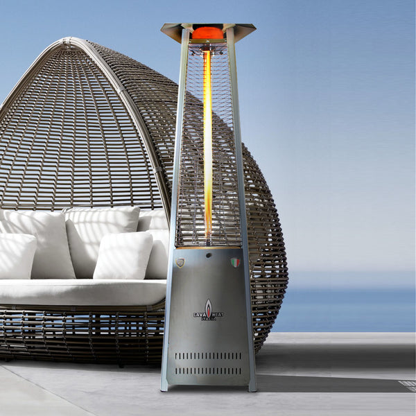 Lava Heat Italia Patio Heater Lava Lite Stainless Steel - Natural Gas AL8MGS - BarStoreUSA