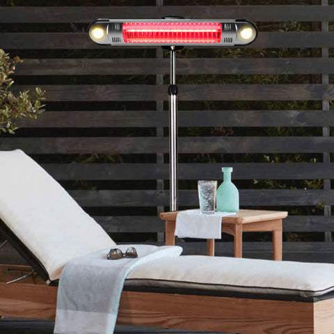 Lava Heat Italia Patio Heater Wall E Stainless Steel - Electric EL6RES