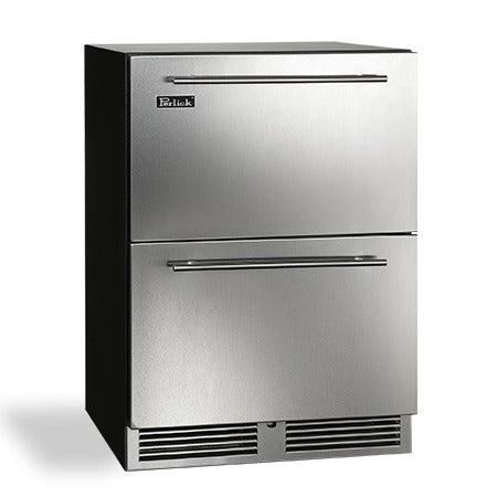 "Perlick 24"" C-Series Indoor Refrigerator Drawers - BarStoreUSA"