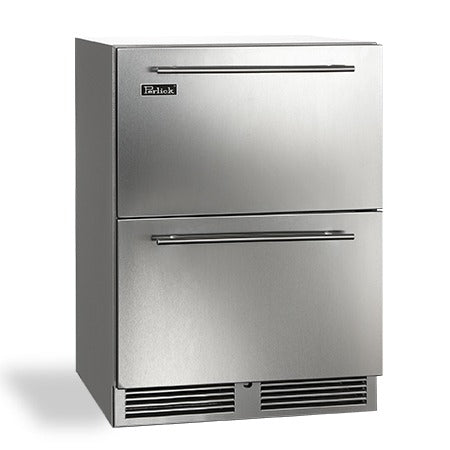 "Perlick 24"" C-Series Outdoor Refrigerator Drawers - BarStoreUSA"