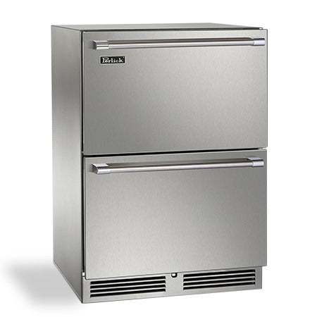 "Perlick 24"" Signature Series Indoor Freezer Drawers - BarStoreUSA"