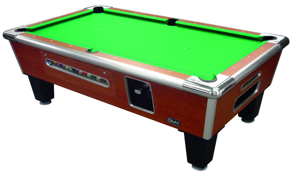 Shelti Coin Operated Bayside Sovereign Cherry Pool Table 8SP - BarStoreUSA